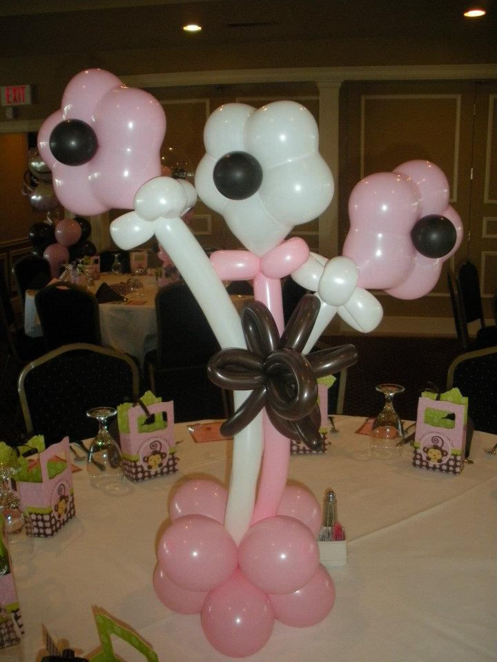 Baby shower balloon decor nwiballoons for Balloon art for baby shower