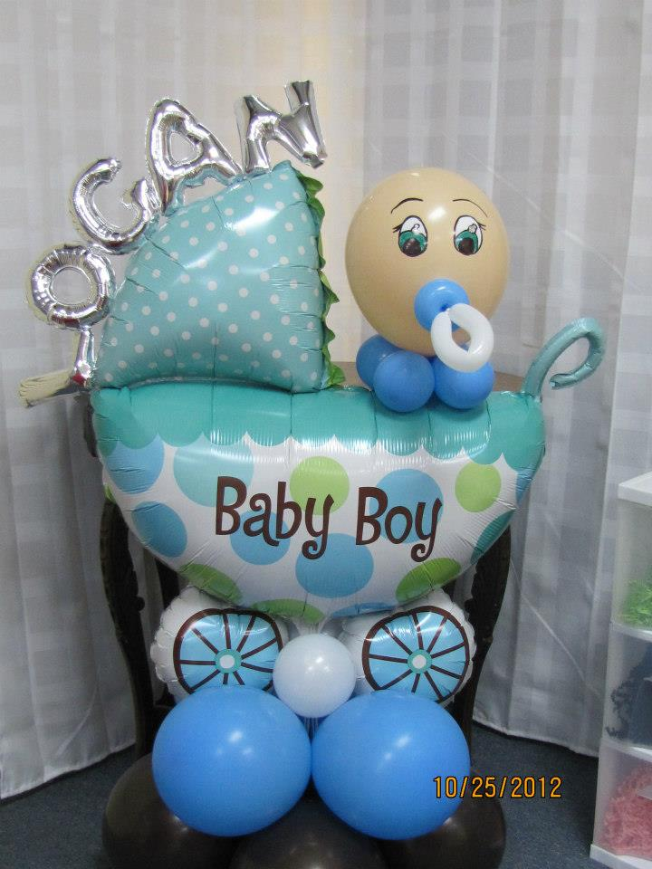 Baby shower balloons nwiballoons for Baby shower decoration ideas with balloons