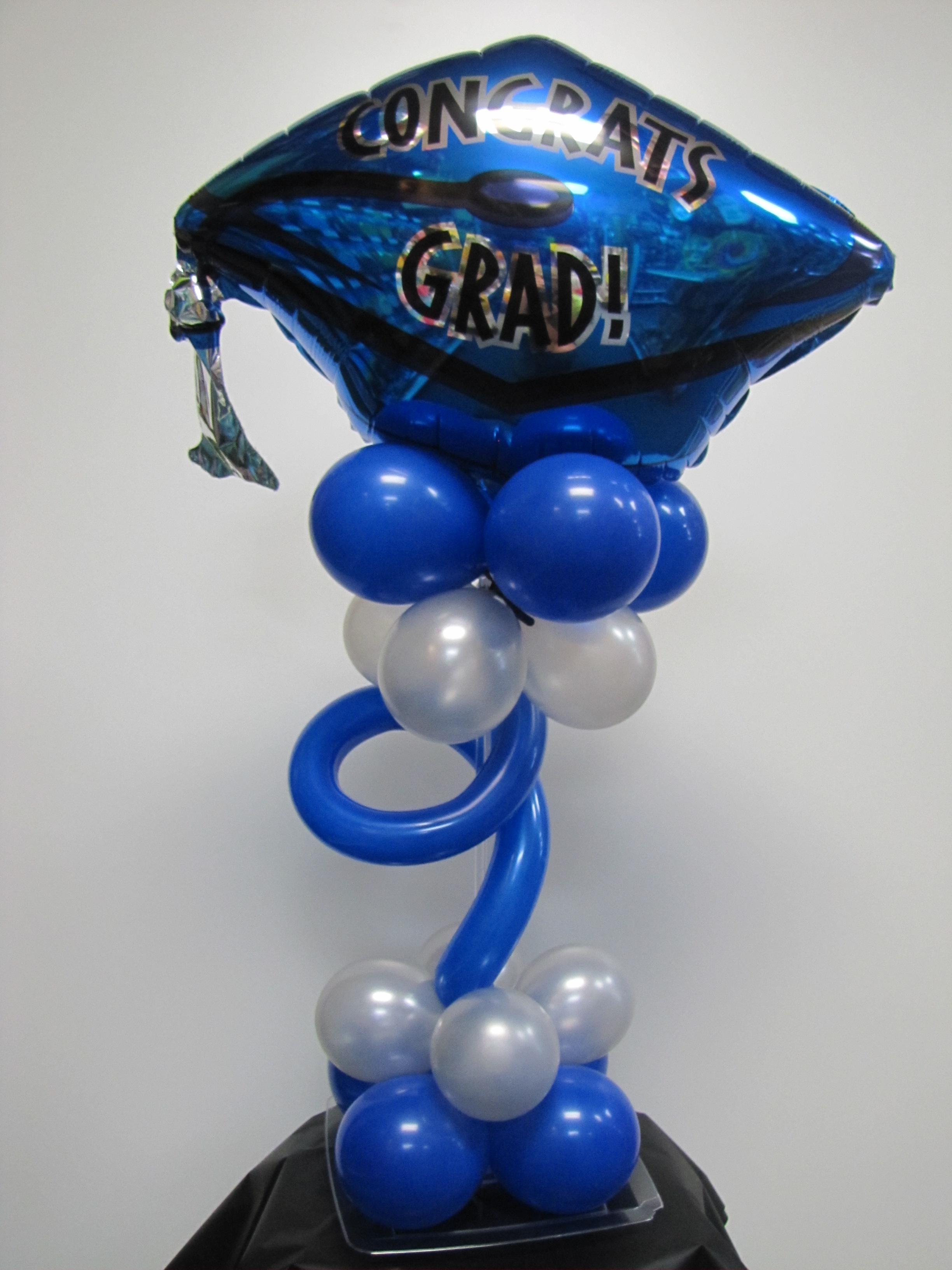 Graduation balloons nwiballoons for Balloon decoration graduation