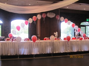 Balloon Arch over Head Table