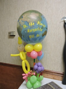 Centerpiece for a Dr. Suess Themed Party
