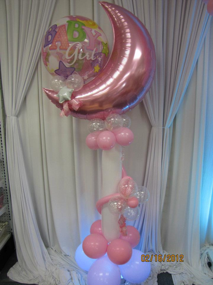 Baby shower balloon decor nwiballoons for Balloon decoration for baby shower