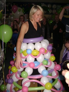 Amy in a Balloon Dress