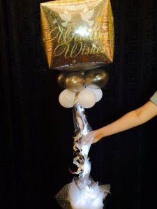 Just Married Balloon Decor with Lights