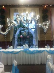 Quince Name Balloon Arch