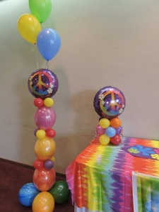 60's Themed Balloons