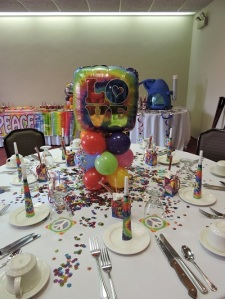 60's Themed Table Centerpiece
