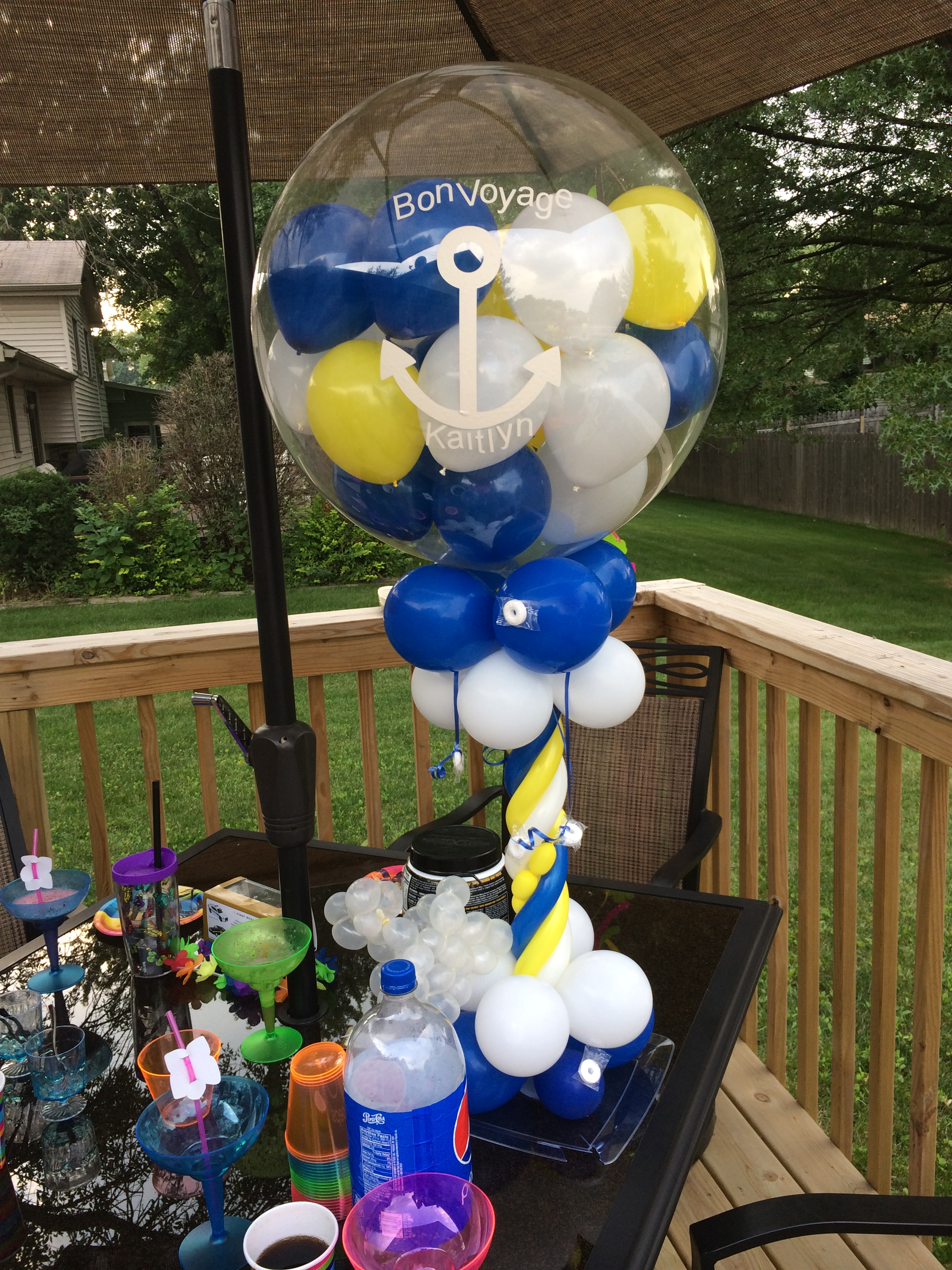 Hosting A Going Away Bon Voyage Pool Party Nwiballoons