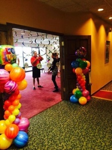 Balloon Columns for Entrance