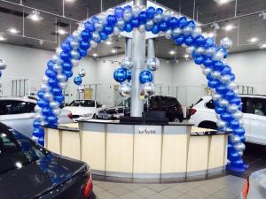 Balloon Arch in Car Dealership