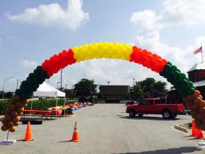 Balloon Arch for Customer Appreciation Event at Texas Roadhouse