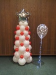 Christmas Tree made out of Balloons