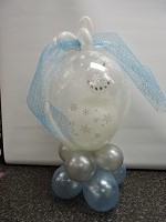Snowman in a Snow Globe Balloon Design