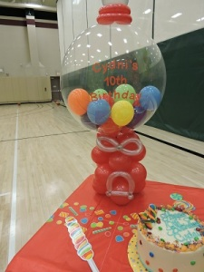 Gum Ball Machine Made Out Of Balloons