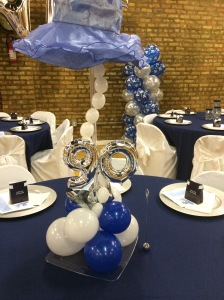 90th birthday centerpiece with Hat
