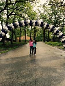 Balloon Arch for Fundraiser Walk