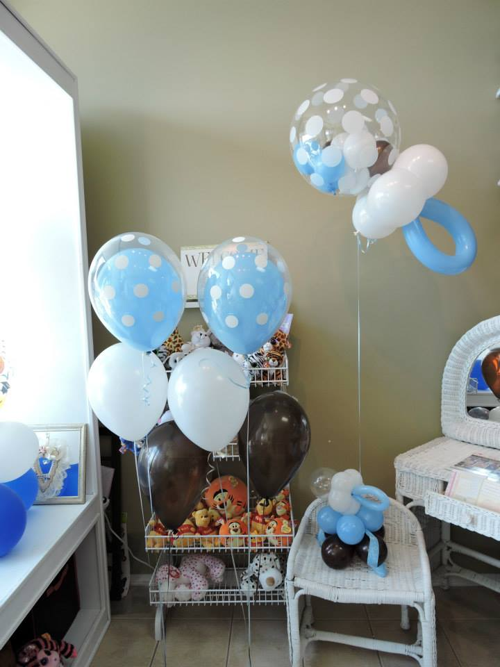 Baby shower balloons in northwest indiana nwiballoons for Balloon arrangement ideas