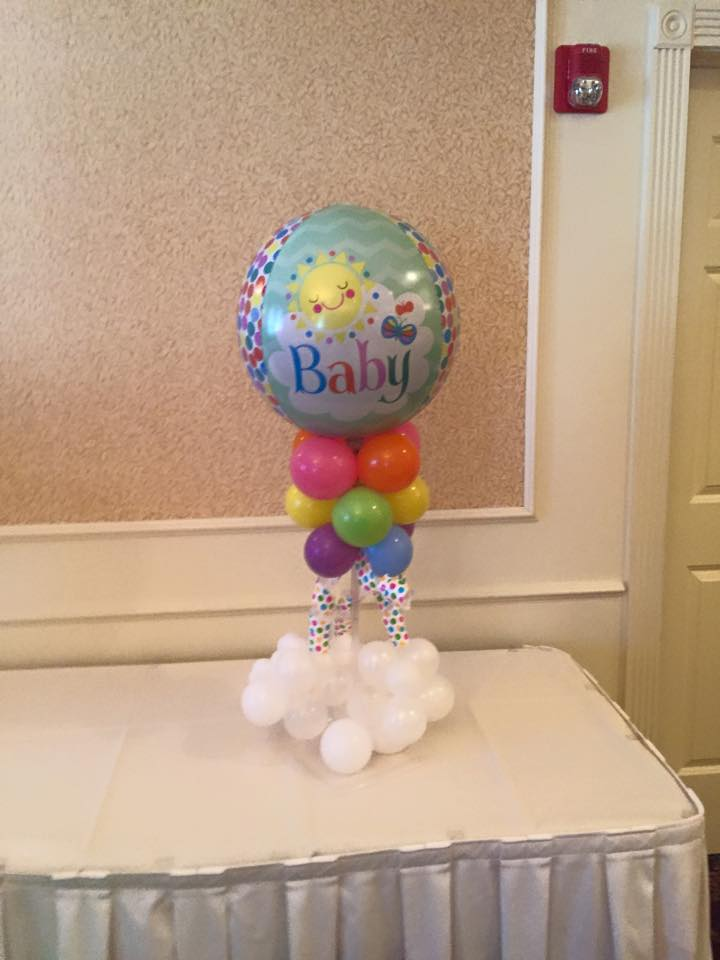 Baby shower balloons nwiballoons for Balloon art for baby shower