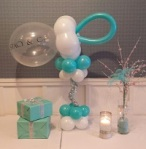 Tiffany Theme Baby Shower Balloon Decor