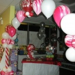 Candy Cane Balloon Arch