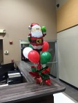Christmas Balloon Santa Centerpiece