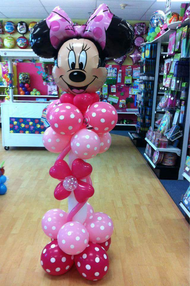 Mickey and minnie mouse balloons nwiballoons for Balloon decoration ideas for 1st birthday