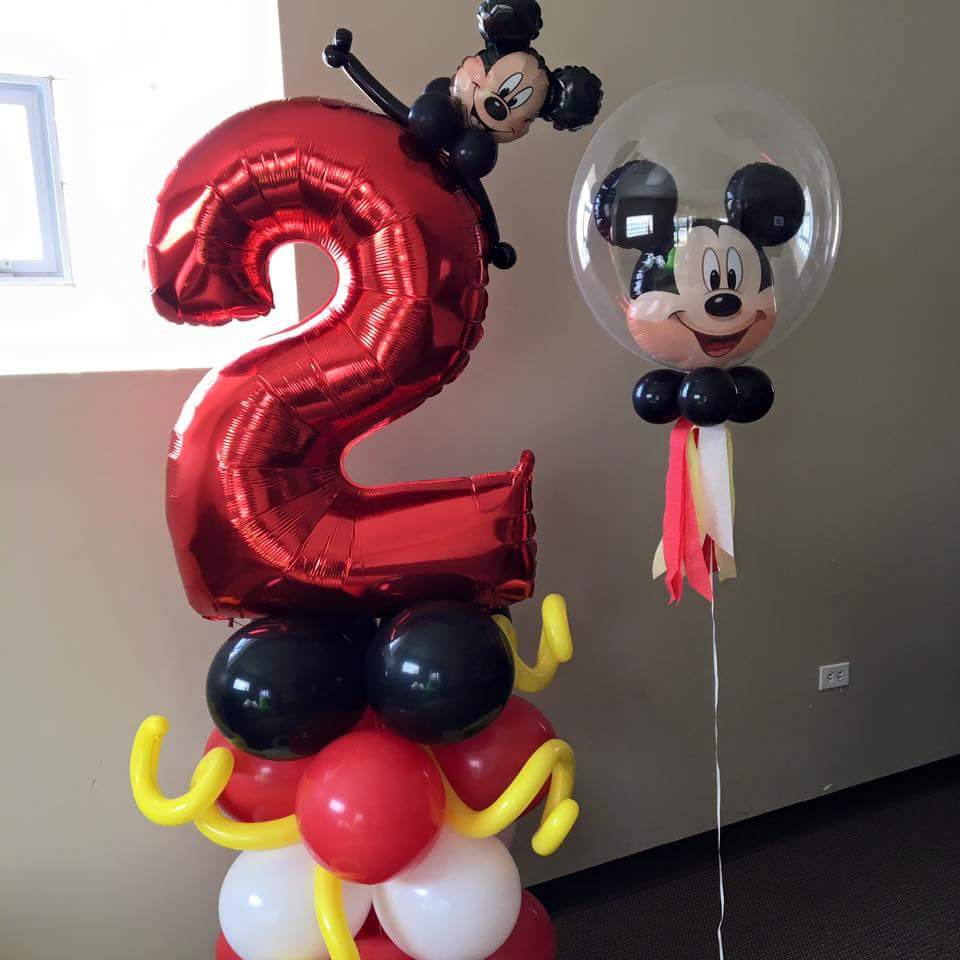 Mickey and minnie mouse balloons nwiballoons for Balloon decoration minnie mouse