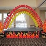 Fire Theme Balloon Arch