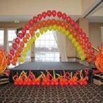 Fire Theme Balloon Arch