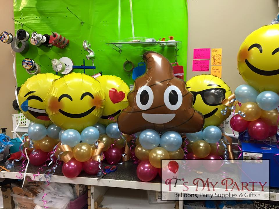 Balloon decorating ideas nwiballoons for Decoration emoji